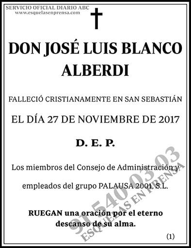 José Luis Blanco Alberdi